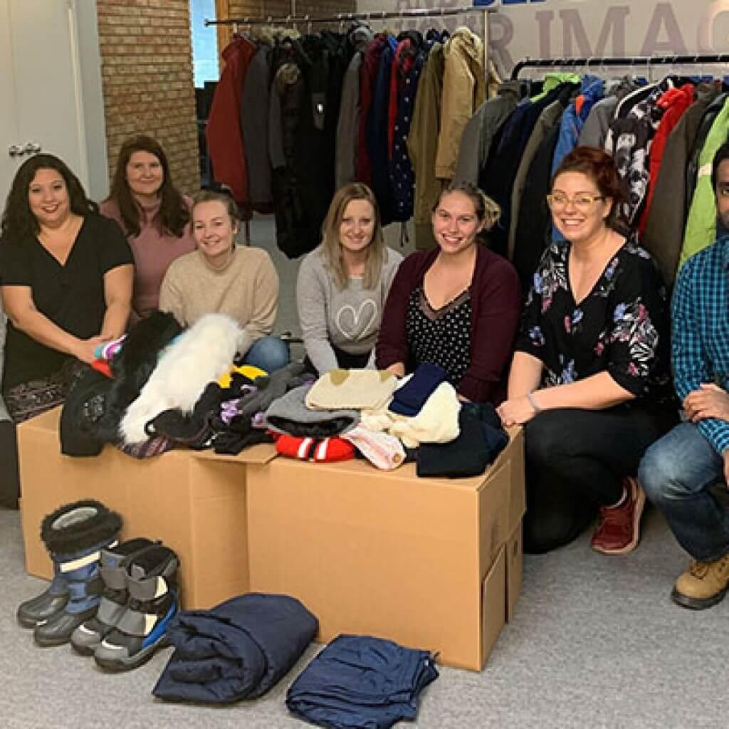 Guaranteed Removals Donates Winter Apparel To Compassion Society Of Halton